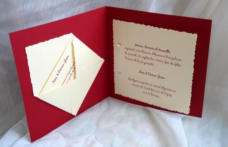 Super Mon faire part com mariage - Modèle de lettre WY91